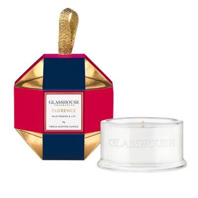 Glasshouse Florence Christmas Bauble Candle