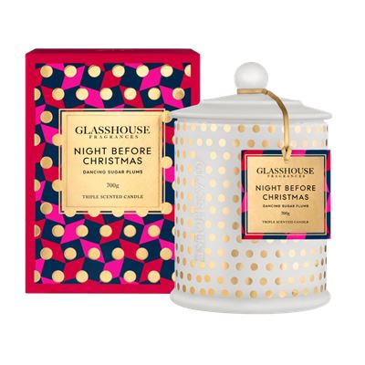 Glasshouse 700g Night Before Christmas Candle