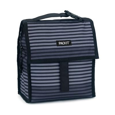 Freezable Lunch Bag - Grey Stripe