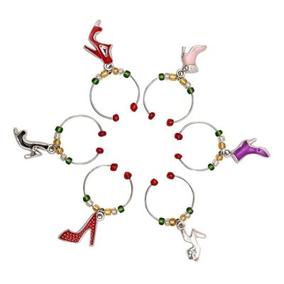 Wine Charms - Shoes Set of 6
