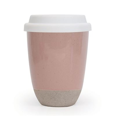 S&P Traveller Mug Pink w/Silicone Lid
