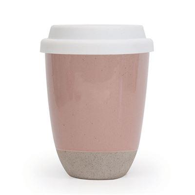 S&P Traveller Mug Pink w/Silicone Lid