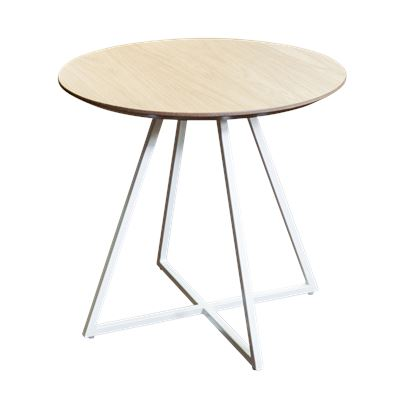 Hendrik Side Table White & Oak 50cm