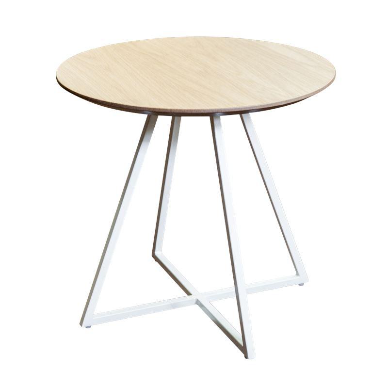 Hendrik Side Table White & Oak 50cm