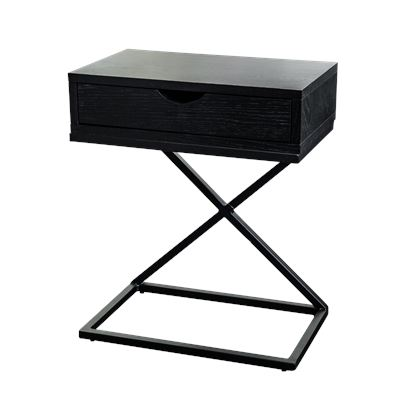 Hendrik Bedside Black Single Draw