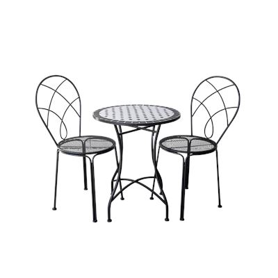Black & White Mosaic Bistro Table & Chairs
