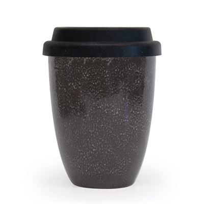 S&P Traveller Mug Black w/Silicone Lid