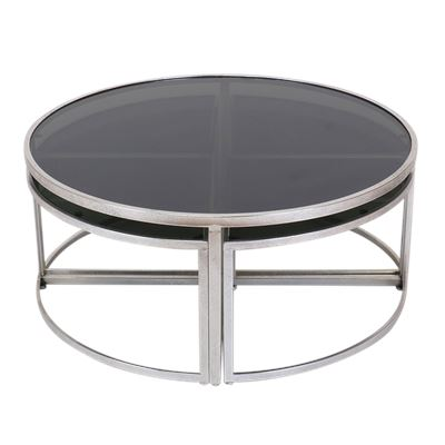Kennedy Coffee Table S/5 Silver