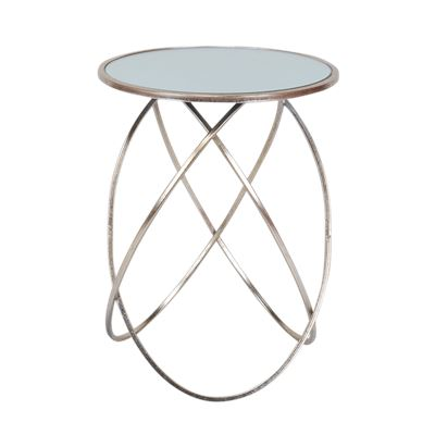 Iris Side Table Silver