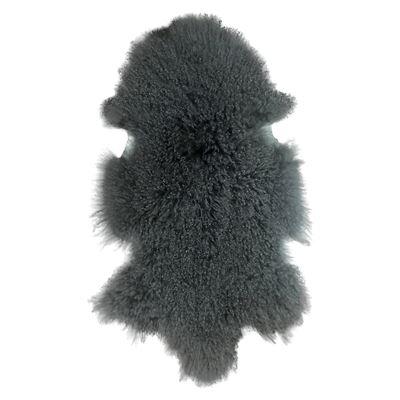 Mongolian Lamb Rug Charcoal