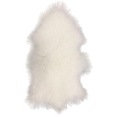 Mongolian Lamb Rug White
