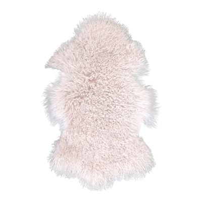 Mongolian Lamb Rug Pink