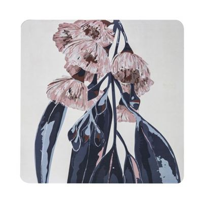 Flowering Gum Corkback Hard Placemat 30x30cm Mul