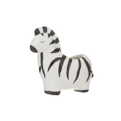 Ziggy Zebra Pot 12x12.5cm Bla