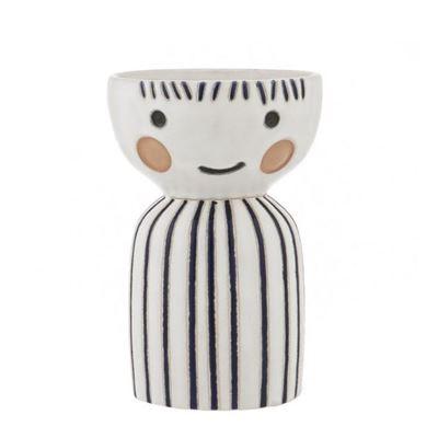 Pixie Face Vase 12x19cm Blue