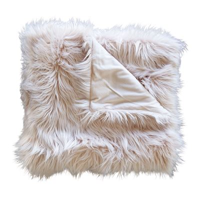 Elsie Faux Fur Throw Blush