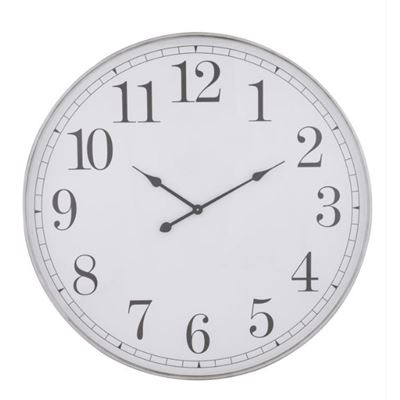 Shella Wall Clock 80cm Sil