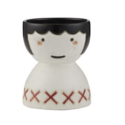 Poppy Face Vase 11x14cm Red