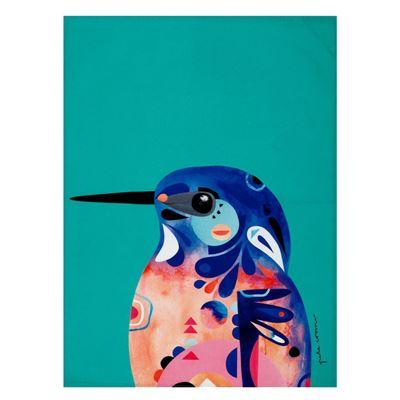 Pete Cromer Tea Towel 50x70cm Kingfisher