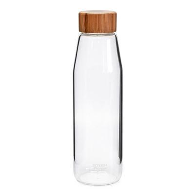 Smash & Pepper Water Bottle Glass W Bamboo Lid