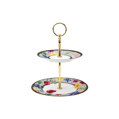 Teas & C's Contessa 2 Tiered Cake Stand White Gift Boxed