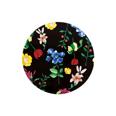 Teas & C's Contessa Ceramic Round Trivet 20cm Gift Boxed Black