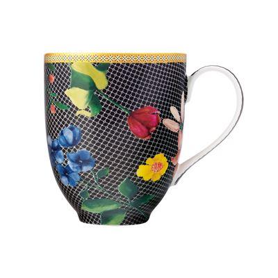 Teas & C's Contessa Coupe Mug 440ML Black Gift Boxed