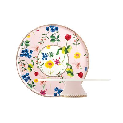 Teas & C's Contessa Footed Cake Stand 30cm Rose Gift Boxed