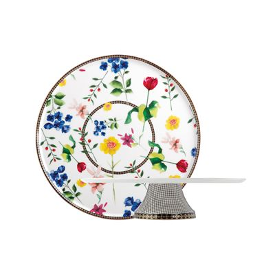 Teas & C's Contessa Footed Cake Stand 30cm White Gift Boxed