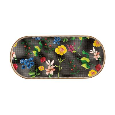 Teas & C's Contessa Oblong Platter 33x15cm Black Gift Boxed