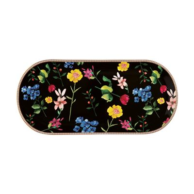 Teas & C's Contessa Oblong Platter 42x19.5cm Black Gift Boxed