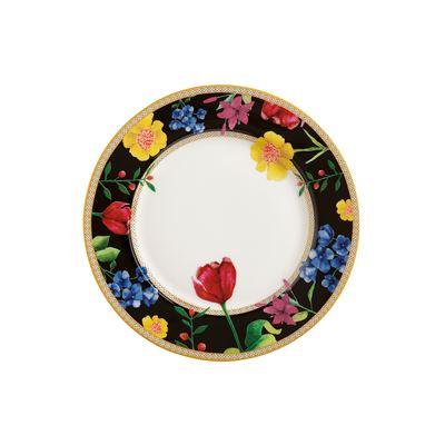 Teas & C's Contessa Rim Plate 19.5cm Black Gift Boxed