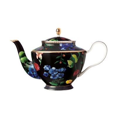 Teas & C's Contessa Teapot with Infuser 1L Black Gift Boxed