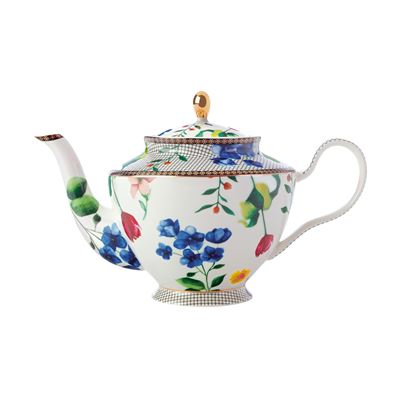 Teas & C's Contessa Teapot with Infuser 1L White Gift Boxed
