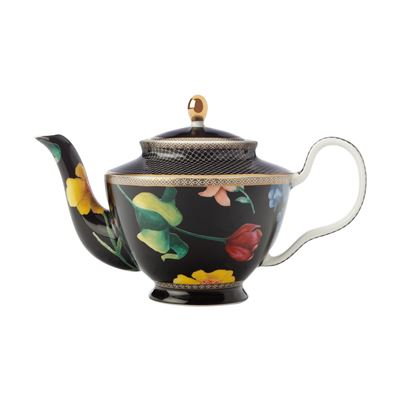 Teas & C's Contessa Teapot with Infuser 500ML Black Gift Boxed
