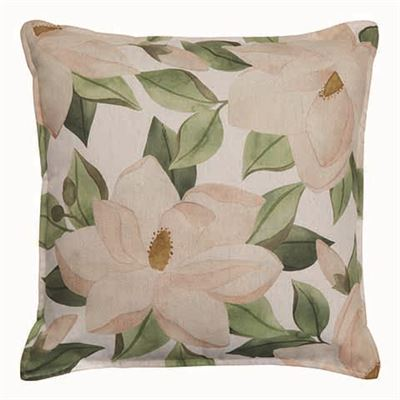 Magnolia Blush/Green Cushion 50cm