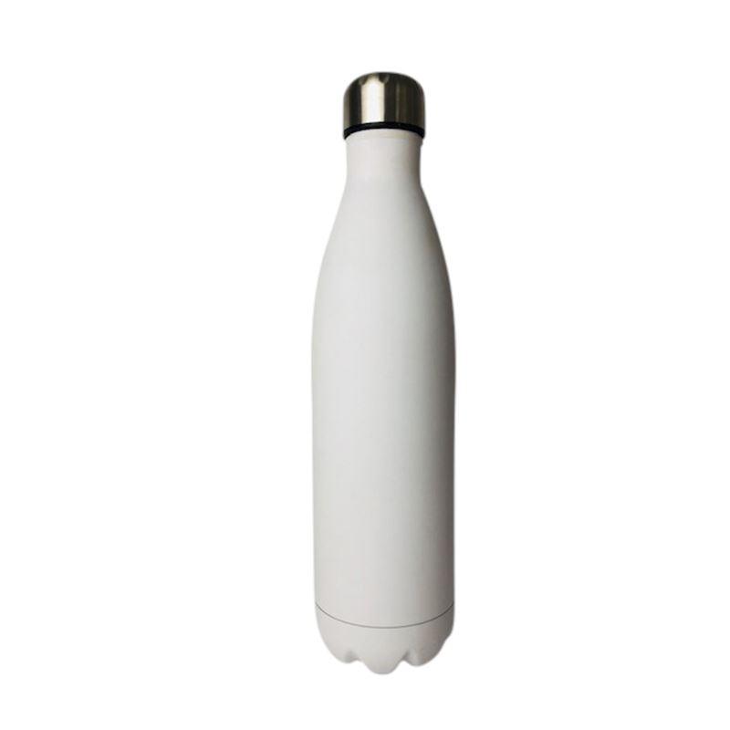 SS Water Bottle Double Wall White 750ml
