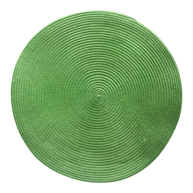 Woven Placemat Round Green