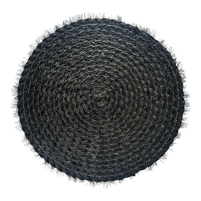 Sparkle Placemat Round Charcoal