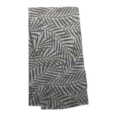 Palm Print Scarf Grey