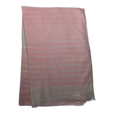 Fringed Stripe Scarf Rose