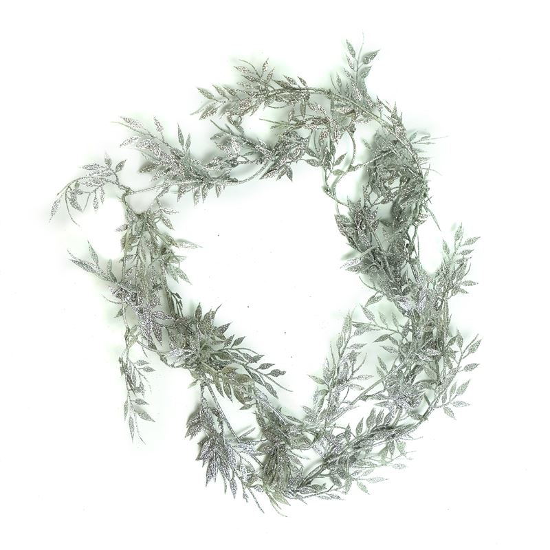 Christmas Leaf Garland Silver