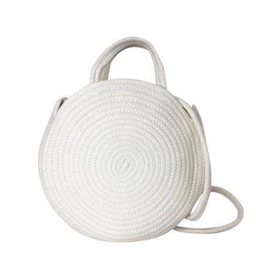 Cotton Circle Bag White