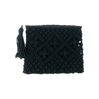 Macrame Clutch Black