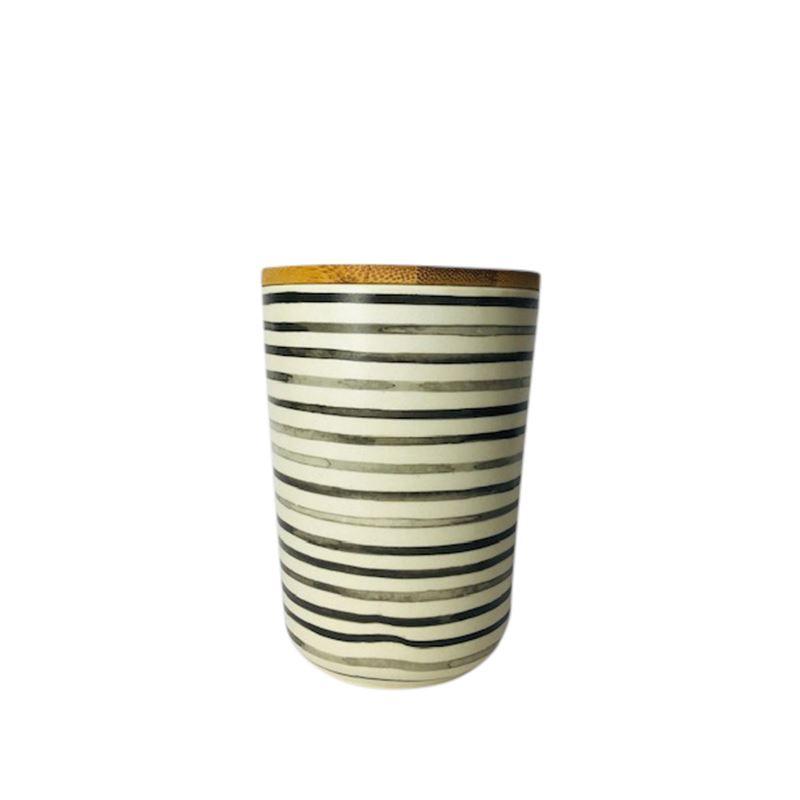Bamboo Fiber Cannister Stripe