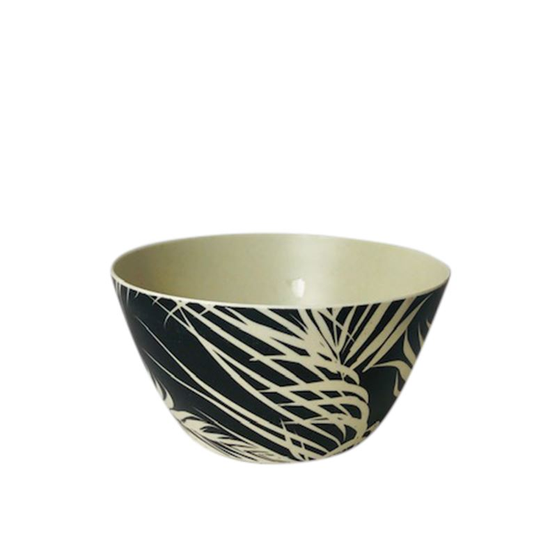 S/4 Bowls Palm Black & White