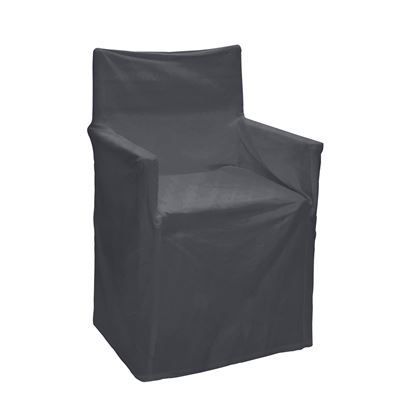 Solid Director Chair Cover Charcoal