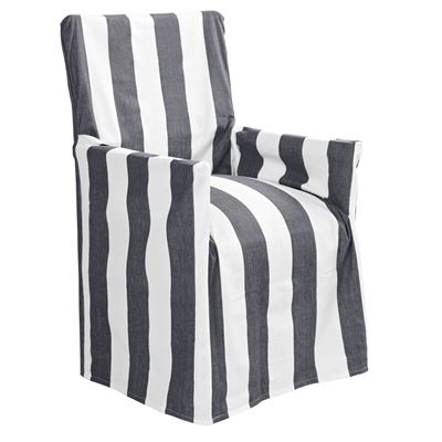 Stripe Director Chair Cover Charcoal