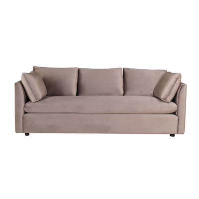 Stirling Velvet Sofa Silver