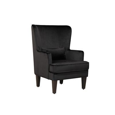 Grand Armchair Black Velvet